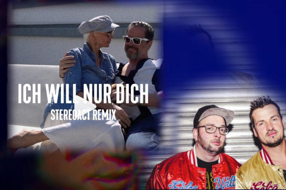"""Sebastian Seidel und Ric Einenkel von """"Stereoact"""" (re.). Das Cover von Alex (oben)."""